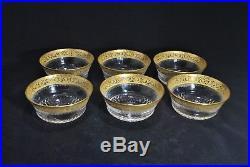 Saint Louis cristal Thistle or lot de 2 rinces doigts coupe vase