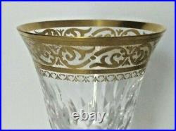 Saint Louis cristal verres à eau modèle Stella or signé fait main très bon état
