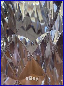 Saint Louis imposant vase en cristal taillé à pans coupés années 50/60