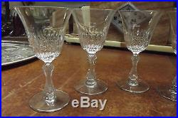 Saint Louis série de 6 verres à pied en cristal modèle Stella très bon état sign