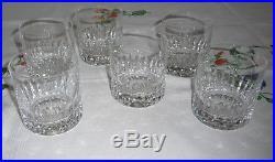 Saint-Louis six grands verres à whisky cristal Jersey Marine parfait état