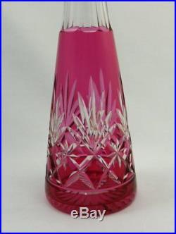 Saint Louis superbe carafe à liqueur modèle Massenet rouge parfait état. Lot 1/2