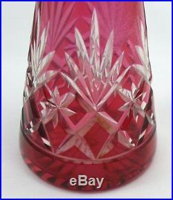 Saint Louis superbe carafe à liqueur modèle Massenet rouge parfait état. Lot 2/2