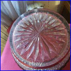 Seau bol a punch en cristal de couleur rouge saint louis modèle tommy signé