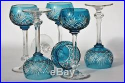 Série 6 verres à vin du Rhin (ou Roemer) en cristal de St Louis modèle Massenet