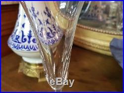 Serie De 12 Flutes A Champagne En Cristal Saint Louis Modele Cerdagne