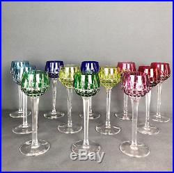 Série De 12 Verres À Vin Modèle Roemer En Cristal Gravés Saint Louis 21cm De H