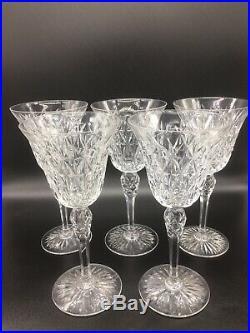 Serie De 5 Verres A Eau En Cristal De St Louis Modele Rare