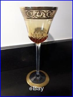 Serie De 6 Verres Saint Louis Roemer Cristal Double Modele Thistle