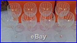 Série de 12 verres cristal collection Fanfare créés par Saint Louis pour HERMÈS