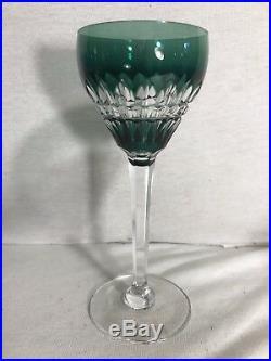 Serie de 5 Verres À Pied CRISTAL St LOUIS France Cristal Taillé Coloré Vintage