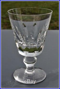 Série de 6 verres à eau en cristal de Saint Louis modèle Jersey 14,5 cm