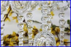 Série de 6 verres à vin de Bourgogne n°3 en cristal de St Louis modèle Bubbles