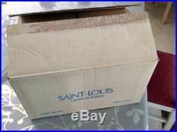 Série de 6 verres à vin en cristal de Saint Louis modèle Chambord Neuf n3