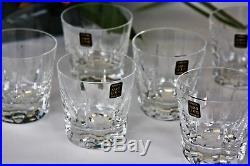 Série de 6 verres à whisky en cristal de Saint Louis Cerdagne neufs + boîte