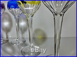 Série de 6 verres roemer cristal (Saint-Louis Bristol Val St Lambert Osram)