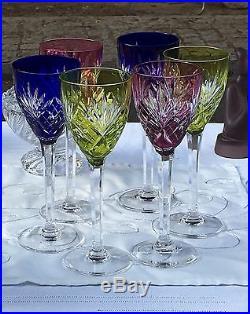 serie de 6 verres vin du rhin roemers en cristal taill saint louis verres cristal st louis. Black Bedroom Furniture Sets. Home Design Ideas