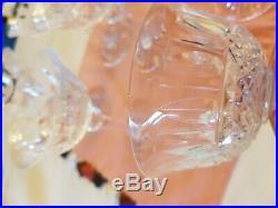 Série de 8 coupes à champagne en cristal de St Louis modèle Tommy