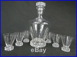 Service A Liqueur Cristal St Louis Modele Diamant 6 Verres + 1 Carafe