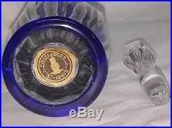 Service Cristal De Saint Louis Carafe 6 Verres A Liqueur Bristol Bleu Cobalt