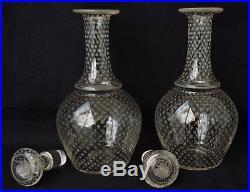 Service à Liqueur Napoléon III Cristal Gravé Etoiles Baccarat St Louis XIXème