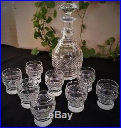 Service à liqueur modèle Trianon en cristal Saint-Louis (1 carafe + 8 verres)