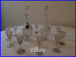 Service à liqueur ou porto en cristal de Saint Louis 2 carafes et 11 verres