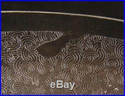 Service de 5 bols rince doigt ou coupelle en cristal de Saint Louis gravé acide
