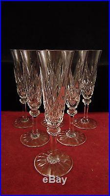 Service de 6 flutes à champagne en cristal de Saint St Louis modèle Provence