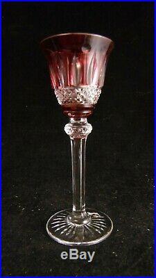 Service de 6 verres à liqueur en cristal de Saint Louis modèle Tommy couleur
