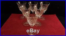 Service de 6 verres à vin en cristal de Saint St Louis modèle Provence 15 cm