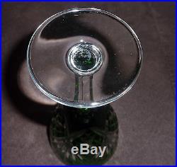Service de 6 verres à vin de couleur cristal de Saint Louis, modèle Chantilly