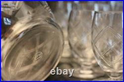 Service de verres en cristal taillé Saint Louis 30 verres pichet carafe