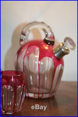 Service à liqueur st-Louis. Cristal 1930