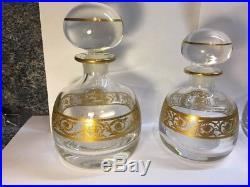 Service toilette cristal Saint Louis modele Thistle, 4 pieces