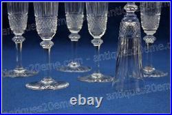 Set de 6 flûtes à champagne en cristal de St Louis modèle Tommy 20.5 cm