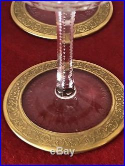 Six Coupes à champagne en cristal de Saint Louis modèle Thistle (1)