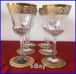 Six Verre à Vin Blanc en cristal de Saint Louis modèle Thistle (1)