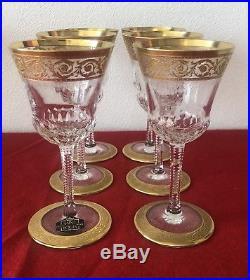 Six Verre à Vin Blanc en cristal de Saint Louis modèle Thistle (6)