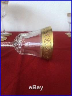 Six Verre à Vin Rouge en cristal de Saint Louis modèle Thistle (1)