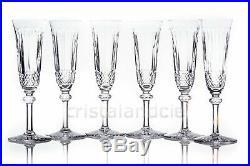 Six flûtes à Champagne Tommy en Saint-Louis. Six Champagne flutes Tommy by SL
