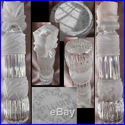Somptueuse colonne Cristal de Saint Louis dépoli & transparent déco