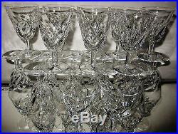 St LouisLot de 20 verres à pied en cristal tailléVerres à vinCerdagne