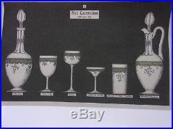 St Louis Servicemarie Antoinette1902 10 Verres A Bordeaux 12,8cm Cristal Grave