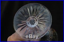 St Louis modèle Tommy Suite 7 Verres à eau en cristal taillé H 18,1cm