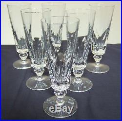 6 fl tes champagne en cristal de saint louis mod le jersey verres cristal st louis. Black Bedroom Furniture Sets. Home Design Ideas