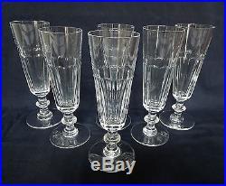 st saint louis 6 flutes champagne cristal taill mod le caton signes 18 4cm verres cristal. Black Bedroom Furniture Sets. Home Design Ideas