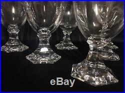 Suite de 6 verres à vin de Bourgogne Saint Louis modèle St Cloud N3 12 cm