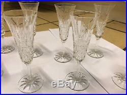Suite de 8 coupes à champagne Cristal Saint Louis signées