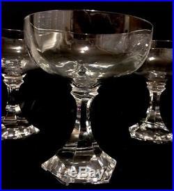 Suite de 8 coupes à champagne Saint Louis modèle St Cloud